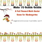 Make 10 Kindergarten Fall Themed Math Center Game: Support