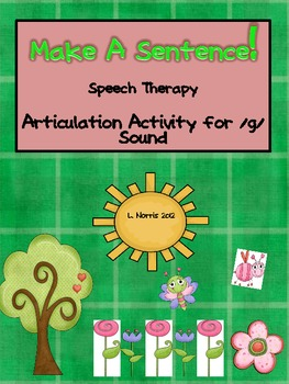 Make A Sentence Articulation Speech Therapy Activity /g/ Sound