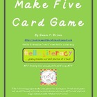 Make Five card game