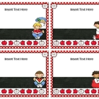 Make Your Own Book Box Labels - Red Polka Dots