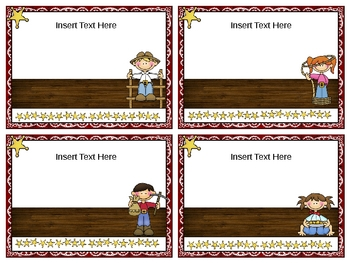 Make Your Own Book Box Labels - Western Theme