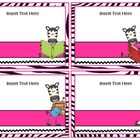 Make Your Own Book Box Labels - Zebra