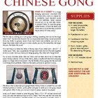 Make Your Own Chinese Gong From Recycled Materials