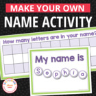 Make Your Own Name Puzzles For Preschool and Early Childho