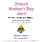 Make a French Mother's Day Card:  Joyeuse Fête des Mères