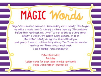Make a Word! {Short Vowels}