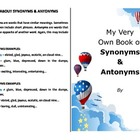Make your own booklet on synonyms and antonyms - literacy