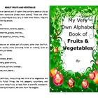 Make your own booklet on the ABC's of fruits and veggies o