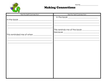 Making Connections Text Frame and Graphic Organizer