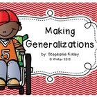 Making Generalizations Activities 