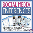 Making Inferences Using Facebook©   {Common Core Aligned}