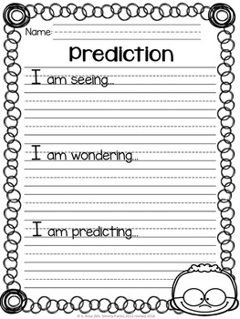 Making Predictions Organizer Pack