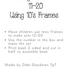 Making Teen numbers using ten's frames student booklet
