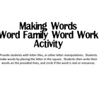 Making Words - 10 Word Families!