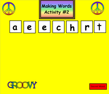 Making Words  4 Blocks Model Smartboard Activities