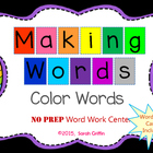 Making Words FREE sample Color Words