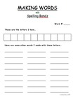 Making Words Sheet using SPELLING BANDZ