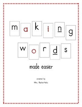Making Words made easier