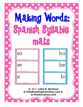 Making Words-syllable mats