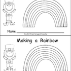 Making a Rainbow Emergent Reader- Kindergarten- St. Patrick&#039;s Day