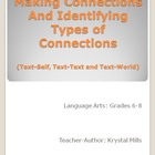 Making and Identifying Connections (Text-Self, Text-Text,