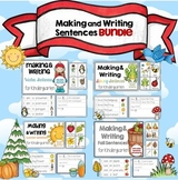 Making and Writing Sentences Winter, Spring, Summer and Fa