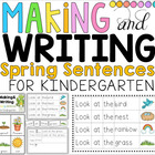 Making and Writing Spring Sentences for Kindergarten {voca