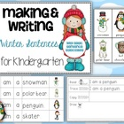 Making and Writing Winter Sentences for Kindergarten {voca