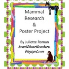 Mammal Poster Project & Rubric