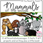 Mammals of the Woods: Common Core Informational Reading, F