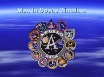 Man In Space Timeline PowerPoint