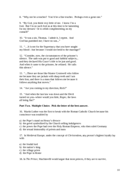 """Man for All Seasons"" Study Guide and Test"