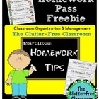 Managing Homework Tips and a Free Homework Pass