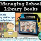 Managing School Library Books {Printables: Sign and Renewa