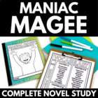 Maniac Magee - Complete Novel Study with Questions, Vocabu
