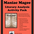 Maniac Magee Literary Analysis Activity Pack