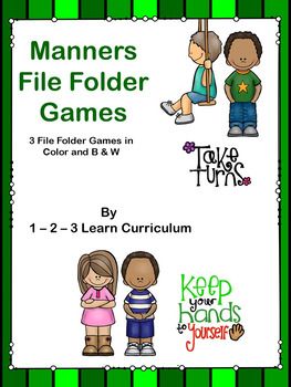 Manners - File Folder Games