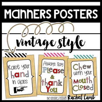 Manners Posters and Reminders for Classroom {essential 55}