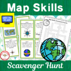 Map Skills Scavenger Hunt with bonus