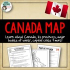 Map of Canada Worksheet / Assignment - FREE!