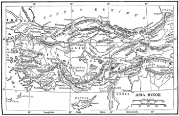 Map of ancient Asia Minor / Turkey
