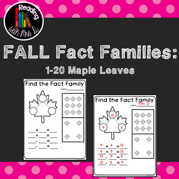 Maple Leaf Fact Families Numbers to Ten