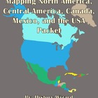 Mapping North America, Central America, Canada, Mexico, an