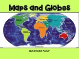 Maps and Globes Power Point in pdf with Activities included