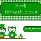 March 2013 1st Grade Calendar for ActivBoard