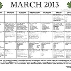 March 2013 Language calendar