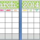 March 2014 Editable/Customizable Curriculum Planning Calendar