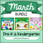 March Bundle for Pre-K and Kindergarten--Spring, St. Patri