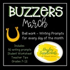 March Buzzer Packet (Bell Work-Journal) Common Core Writin