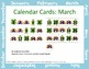 March Calendar Cards - St. Patrick's Day theme